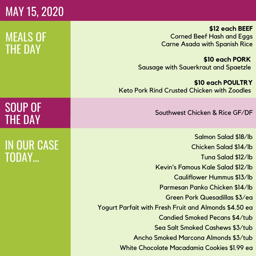 Friday, May 15, 2020