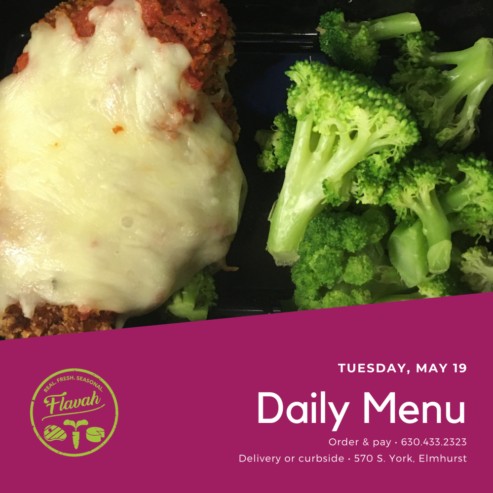 Chicken Parmesan with Broccoli
