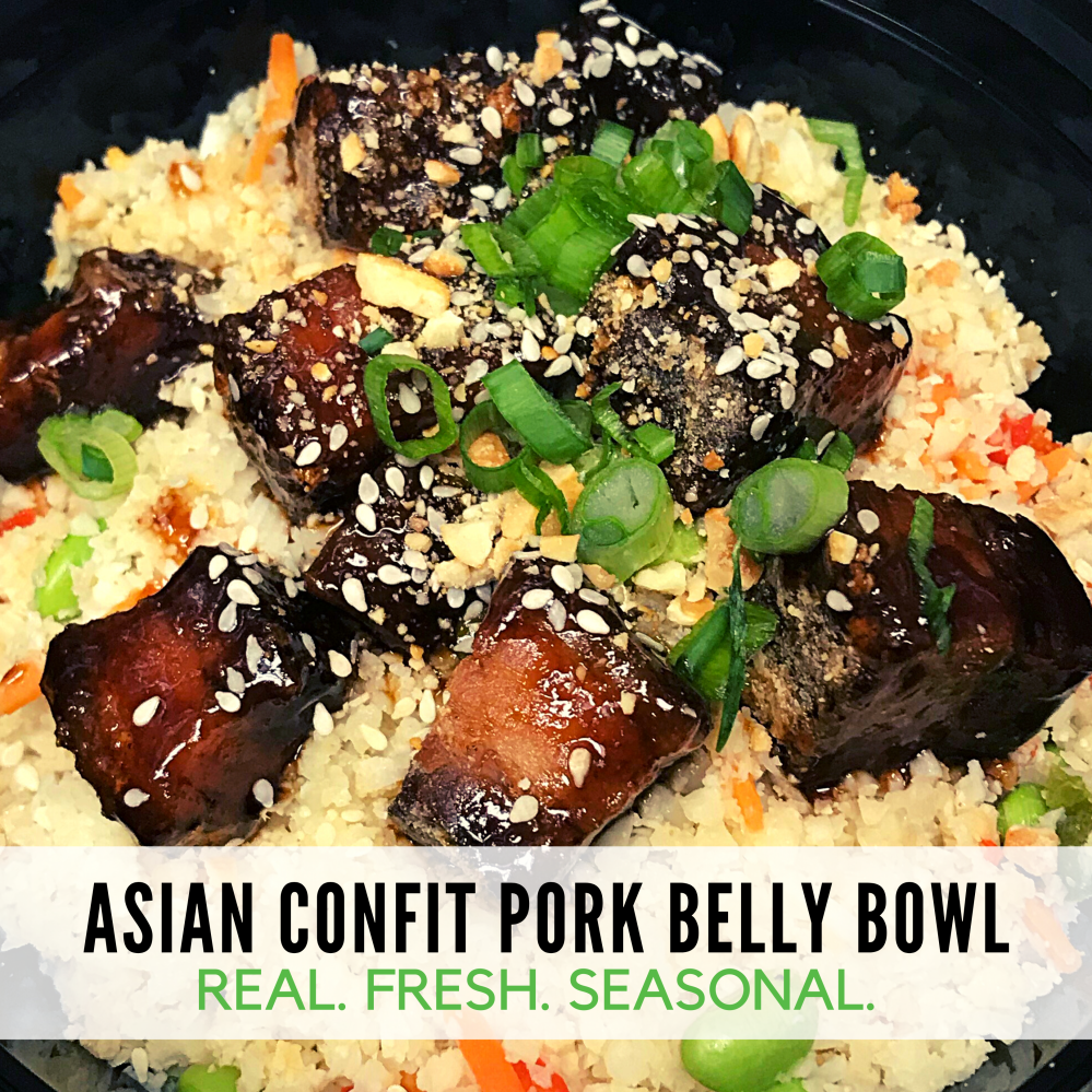 Asian Confit Pork Belly Bowl