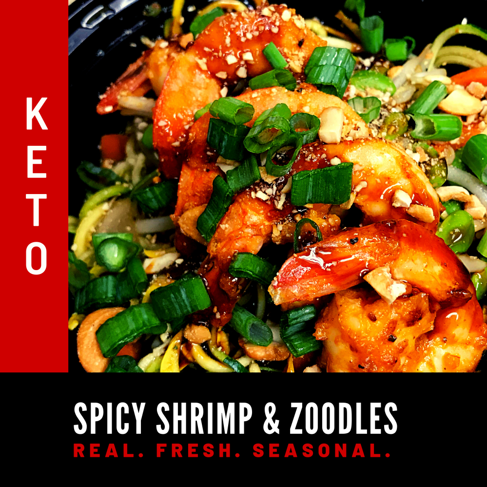 Keto Spicy Shrimp and Zoodles